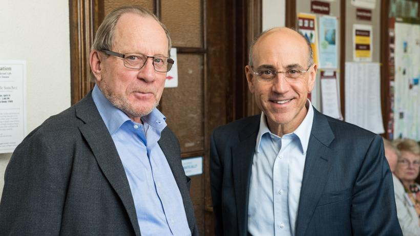 Dean's Council Chair Tom Stanton, with Peter K. Anagnostos, MTS '86