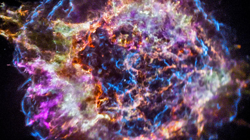 Cassiopeia A, a well-known supernova remnant