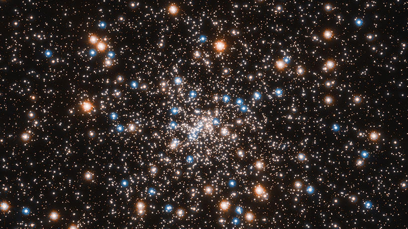 Hundreds of thousands of stars in the globular cluster called NGC 6397 taken by the Hubble Telescope.