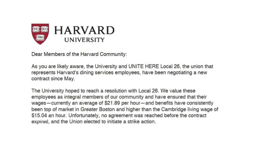 Harvard and Local 26 Negotiation