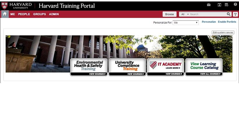 Harvard Training Portal launches July 25