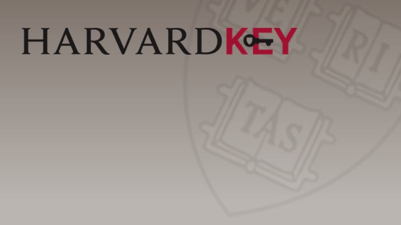 Read more about the latest features of HarvardKey