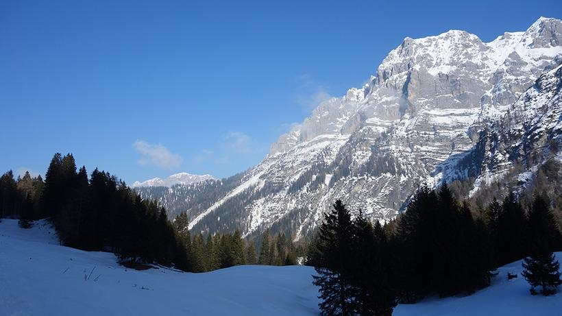 Adamello-Brenta mountain range in the Italian Alps