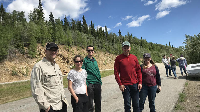Paul Moorcroft and research collaborators conducting field research in Alaska