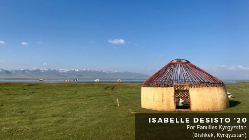 Image of yurt on a grassy plain in Kyrgyzstan