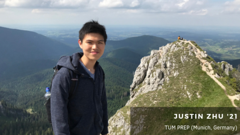 image of student on a mountain in Germany