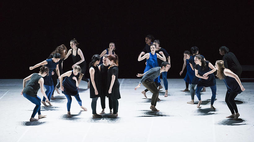 The Harvard Dance Project in WHAT MOVES YOU?, Spring 2016. Photo Credit: Liza Voll.