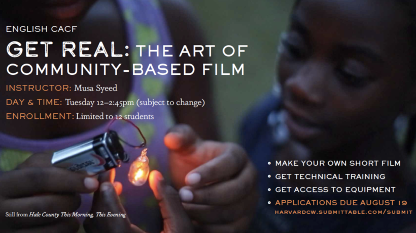 Get Real: The Art of Community Based Film
