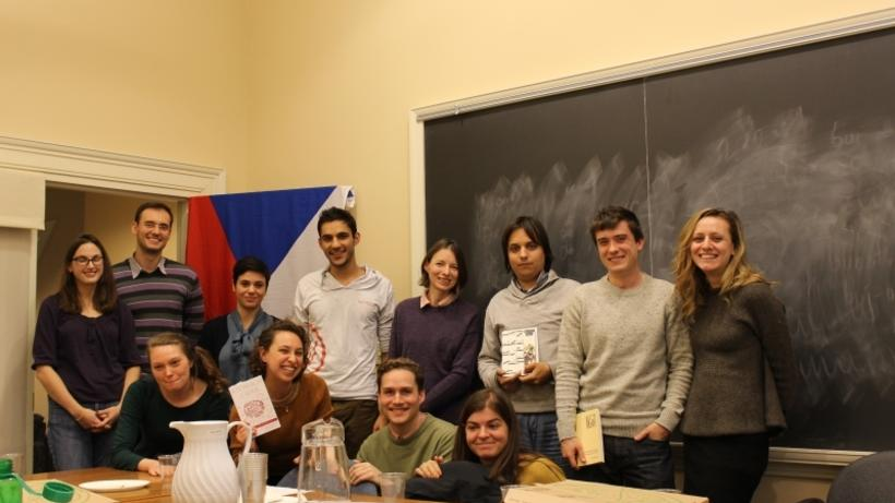 Czech preceptor, Veronika Tuckerova, and students of Czech in the Slavic Department at Harvard University who participated in the Velvet Revolution anniversary celebration