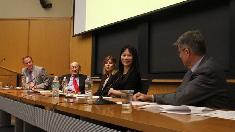 "Professor Ya-Wen Lei participating in ""Xi Jinping Briefing: Pressing Questions for China's President,"" with The Fairbank Center for Chinese Studies."