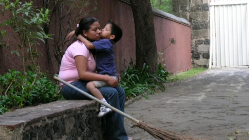 Mother and Son, Mexico City 2006. Photo credit: Tamara Kay