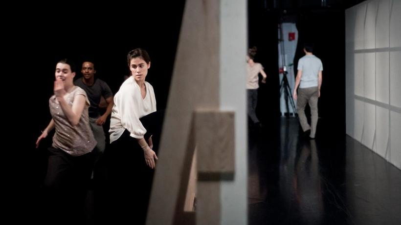 Image: The Harvard Dance Project in RE:RE:RE, choreographed by Jill Johnson. Photo credit: Liza Voll.