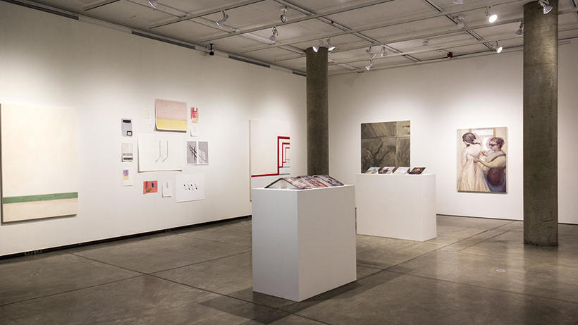 2017 Senior Thesis Show installation view