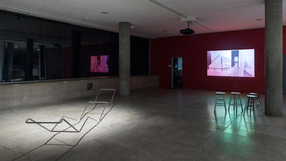 02/12 Installation view with works by Ulla von Brandenburg and Fernanda Fragateiro