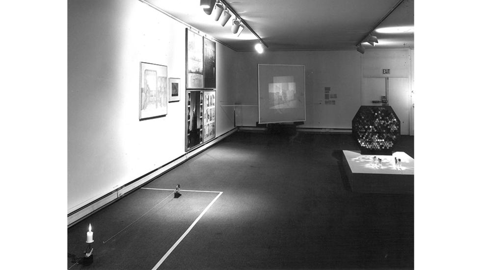 02/04 Archival photograph of ICA You Are Here 1975-76 Exhibition. Courtesy MIT MIT Program in Art, Culture and Technology.