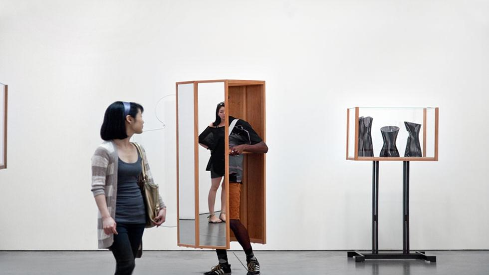 03/05 Exhibition. Josiah McElheny: Two Walking Mirrors for the Carpenter Center. Next, Oct 1.
