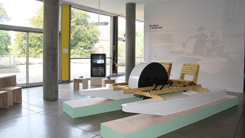 02/05 Mare Liberum installation view of Pedalo (Jeanneret), 2015.