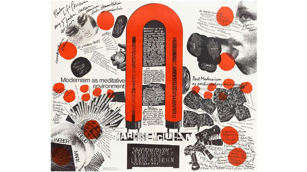 04/07 Maurice Stein, Larry Miller, and Marshall Henrichs. Poster from Blueprint for Counter Education, 1970.