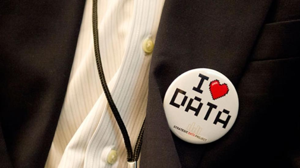"""I Love Data"" pin"
