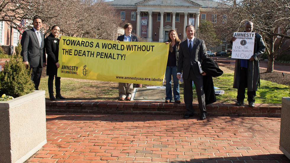 Demonstration against death penalty