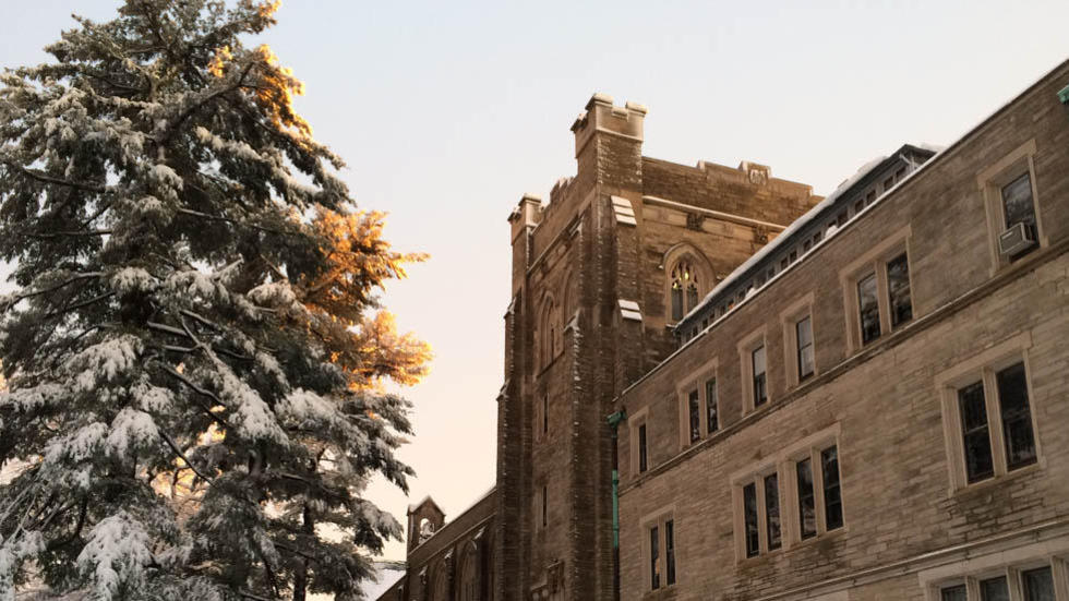 Andover Hall in winter