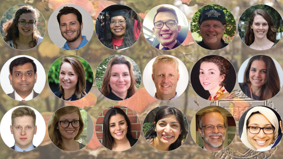portraits of HES graduates; link to HES Spotlights