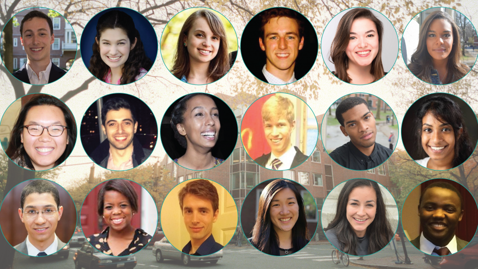 portraits of Harvard undergraduates; link to senior spotlights