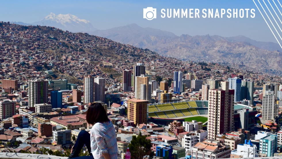 Image of student overlooking city in Bolivia