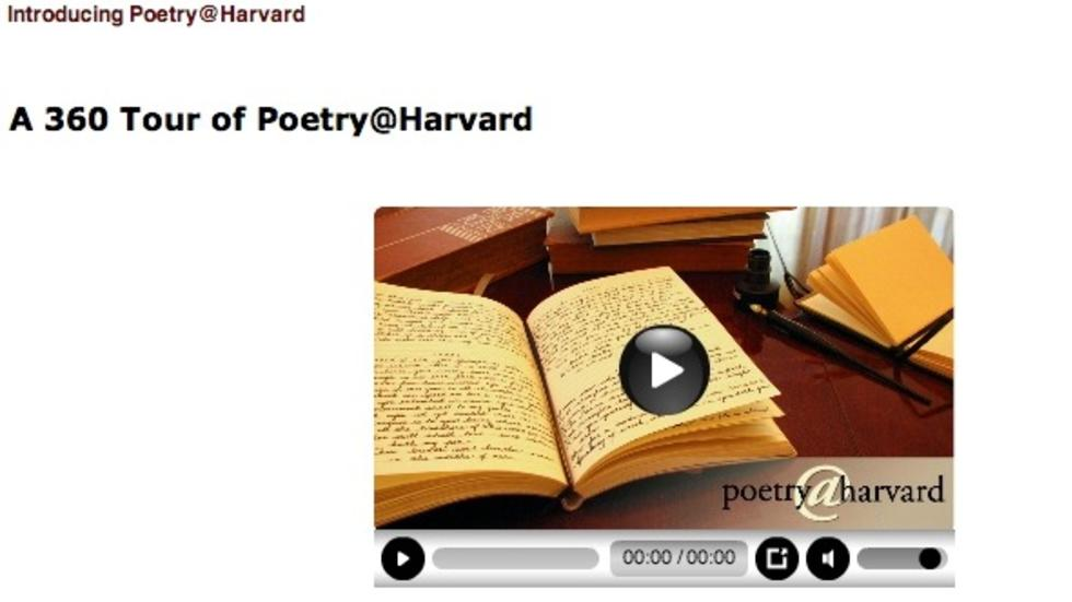 Introducing Poetry@Harvard