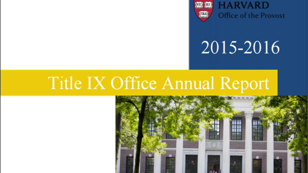 Title IX Office 2015-2016 Annual Report