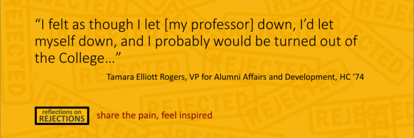 "A quote by Tamara Rogers: ""I felt as though I let [my professor] down, I'd let myself down, and I probably would be turned out of the College..."""
