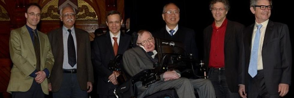 BHI Faculty with Professor Hawking