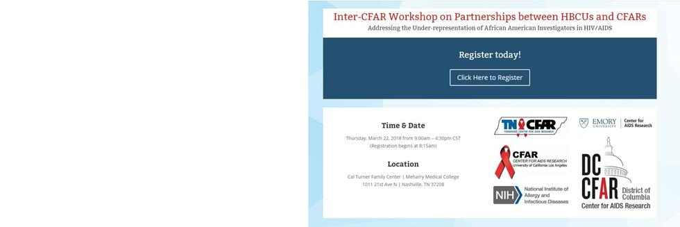 Inter-CFAR Workshop on Partnerships between HBCU and CFARs
