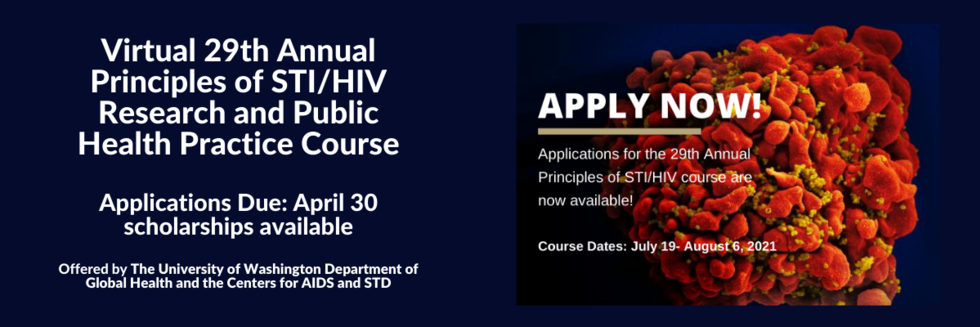 29th Annual Principles of STI/HIV Research and Public Health Practice Course