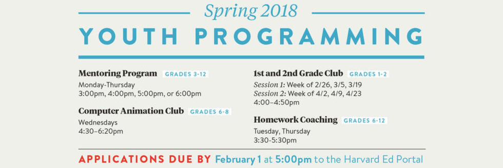 Spring 2018 Youth Programming
