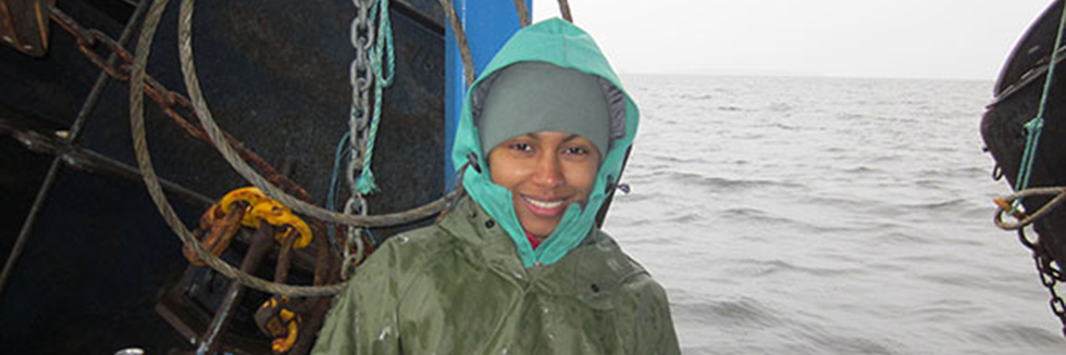 Photo of Postdoctoral fellow Amina Schartup.