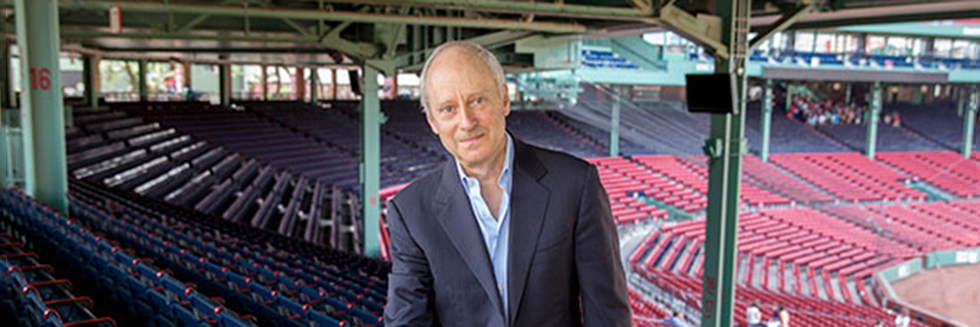 Professor Michael Sandel at Fenway Park