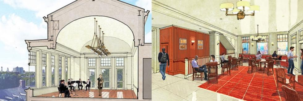 Renderings of the renovation at Winthrop House