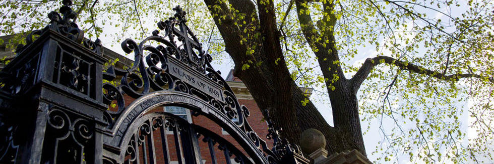 Photo of a Harvard gate