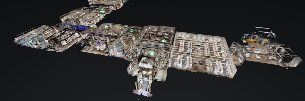 3D rendering of the museum galleries.