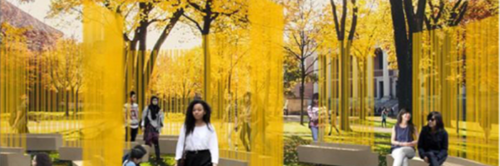 "In the fall of 2018, internationally renowned artist Teresita Fernández will install ""Autumn (...Nothing Personal),"" a site‐specific work for Tercentenary Theatre commissioned by the Harvard University Committee on the Arts (HUCA)."