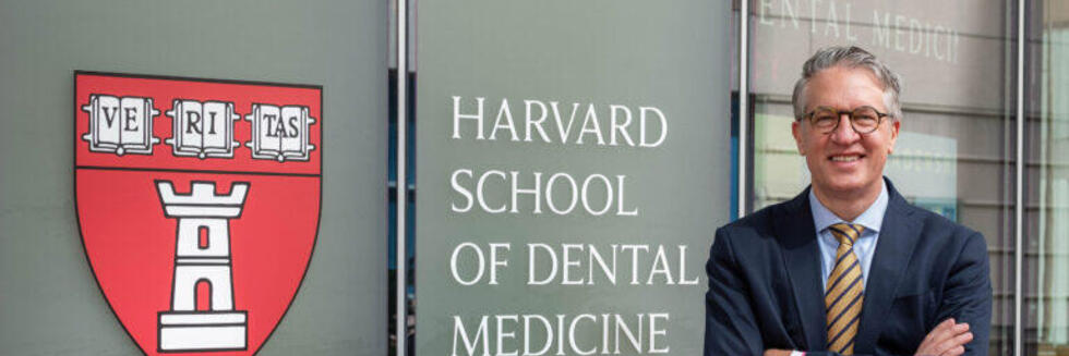William V. Giannobile stands outside of the Dental School