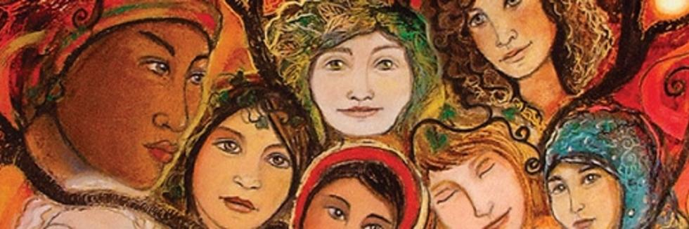 painting of women of many cultures and religions