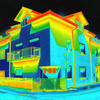 A thermovision image of a house