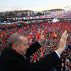Erdogan with crowd