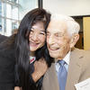 Joy Wang with Dr. Guralnick