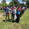 Volunteers distribute much needed supplies to Kenyan villagers via the Towa Kitu Kidogo project, partly initiated by Ashiana Jivraj, DMD21. Photo credit: Towa Kitu Kidogo