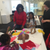 Fun for all at recent kinetic toy workshop families