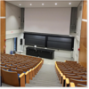 Image from the back of the newly-renovated Harvard Science Center Lecture Hall D