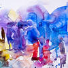 Colorful Abstract People Image